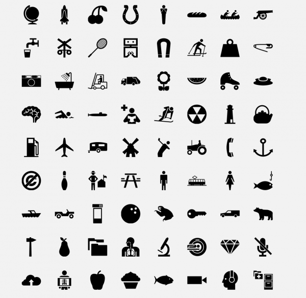 kostenlose icons piktogramme. Black Bedroom Furniture Sets. Home Design Ideas