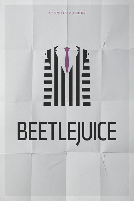 Minimalistisches Filmplakat - Beetlejuice