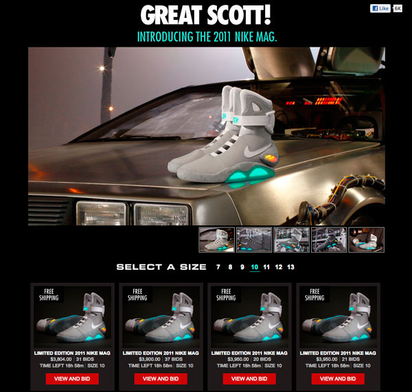 NIKE Power Laces aus Back to the Future