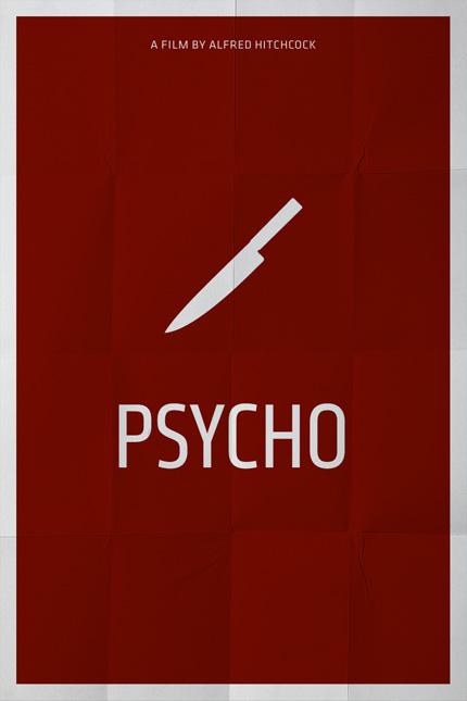 Minimalistisches Filmplakat - Psycho