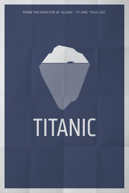 Minimalistisches Filmplakat - Titanic